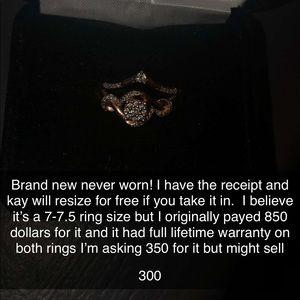 2 10k rose gold diamond rings